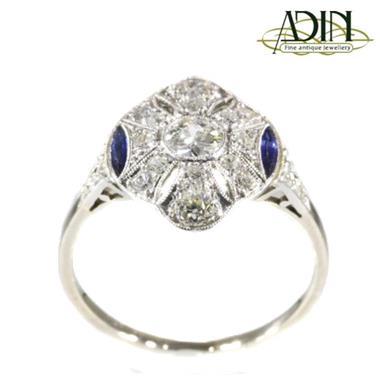 Grote foto vintage ring met diamant en saffier sieraden tassen en uiterlijk ringen voor haar