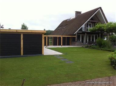 Grote foto houten terrasoverkapping tuin en terras veranda en overkappingen