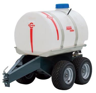 Grote foto aanhangwagen met heavy duty water tank gratis bezorgen tuin en terras grasmaaiers