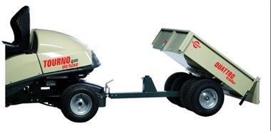 Grote foto aanhangwagen voor zitmaaier 200 kg laadvermogen heavy duty tuin en terras grasmaaiers
