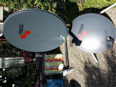 Grote foto sateliet schotel triax digitale dubbelkop caravans en kamperen caravan accessoires