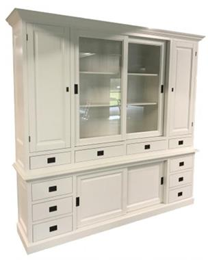 Grote foto buffetkast wit 225 x 225cm dichte zijdeuren huis en inrichting buffetkasten