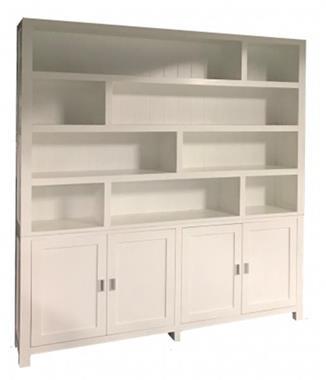 Grote foto grote strakke design vakkenkast wit wit 230cm huis en inrichting buffetkasten