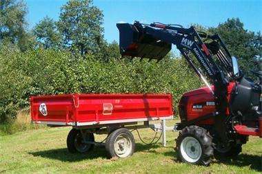 Grote foto aanhangwagen voor compact tractor 1000 kg laadvermogen heavy tuin en terras grasmaaiers