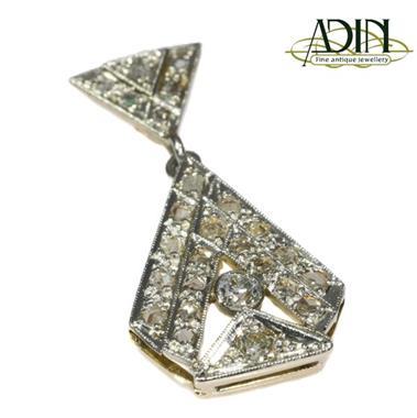 Grote foto unieke art deco hangers met diamant sieraden tassen en uiterlijk bedels en hangers