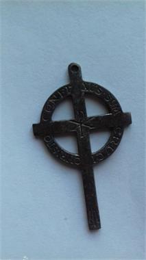 Grote foto cruci christo confixus antiek en kunst religie