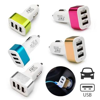 Grote foto 3 pack high speed 3 port autolader carcharger 5 kleuren 74 telecommunicatie opladers en autoladers