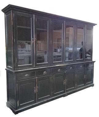 Grote foto buffetkast zwart geschuurd 310 x 50 40 x 220cm huis en inrichting buffetkasten