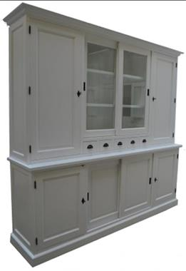 Grote foto landelijkw witte buffetkast dichte zijdeuren 240cm huis en inrichting buffetkasten