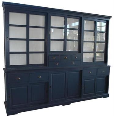 Grote foto blauwe buffetkast xl soft close laden 285 x 230cm huis en inrichting buffetkasten
