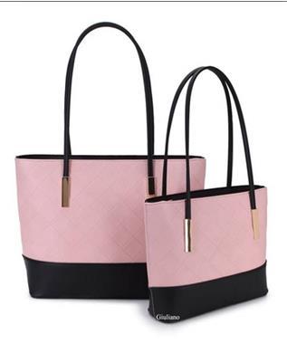 341cb598a84 ... Grote foto roze zwarte shopper tas van het merk giuliano sieraden tassen  en uiterlijk damestassen ...