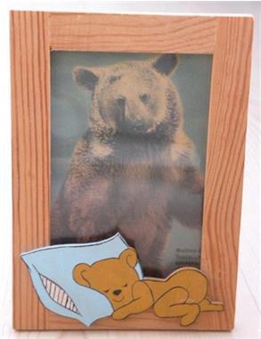 Grote foto fotolijst beer . nieuw. kinderen en baby inrichting en decoratie