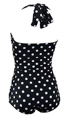 Grote foto aloha beachwear vintage pinup badpak black polkadot. kleding dames badmode en zwemkleding