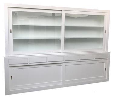 Grote foto strakke witte grote kast design 300cm huis en inrichting buffetkasten