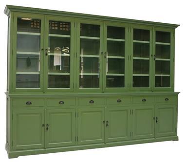 Grote foto buffetkast rietgroen groen 310 x 50 40 x 220cm huis en inrichting buffetkasten