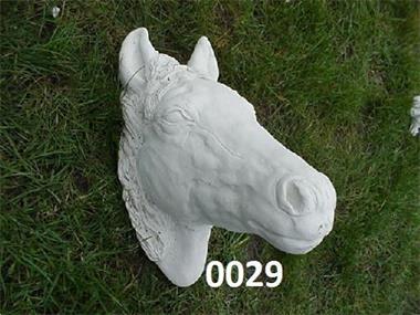 Grote foto paarden hoofd 0029 tuin en terras tuinbeelden en tuinkabouters