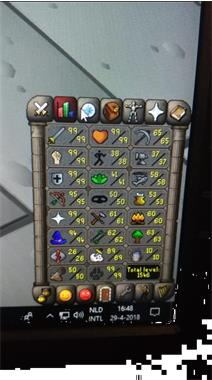 Grote foto runescape main te koop computers en software overige computers en software