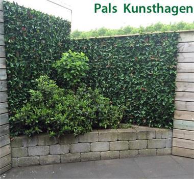 Grote foto kunsthaag als privacyscherm of tuindecoratie tuin en terras hekken en schuttingen