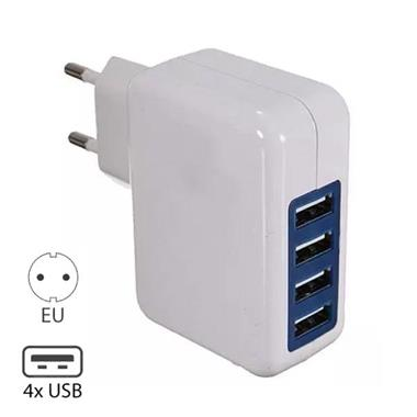 Grote foto 4x quad poort usb iphone android muur oplader wallcharger ac telecommunicatie opladers en autoladers