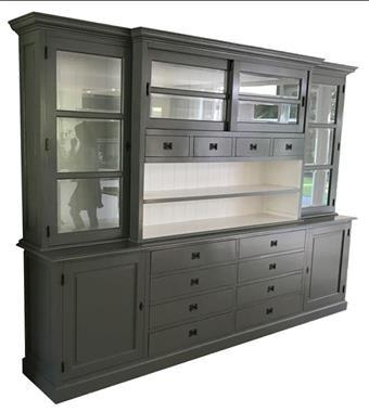 Grote foto buffetkast xl open vak grijs wit 300 x 225cm huis en inrichting buffetkasten