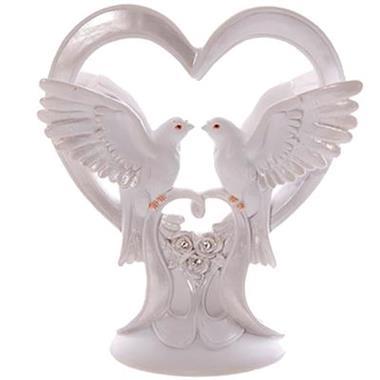 Grote foto huwelijks duiven in wit hart diversen cadeautjes en bonnen