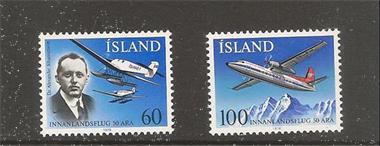 Grote foto ijsland vliegtuigen postzegels en munten scandinavi