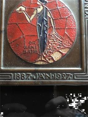 Grote foto algemene nederlandse metaal bewerkersbond 50 jaar antiek en kunst koper en brons