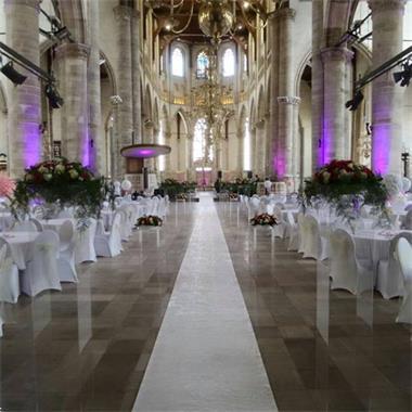Grote foto witte loper voor een romantische bruiloft diversen versiering