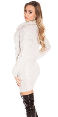 Grote foto koucla gebreide coltrui grijs kleding dames truien en vesten