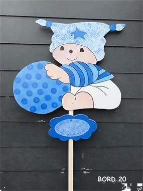 Grote foto geboortebord van bordenbaby.n kinderen en baby overige babyartikelen