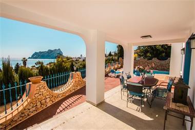 Grote foto villa met zeezicht in calpe costa blanca huizen en kamers bestaand europa