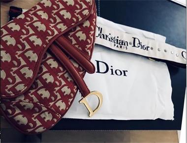 Grote foto leverbaar rode dior saddle large bag incl. strap kleding dames damestassen