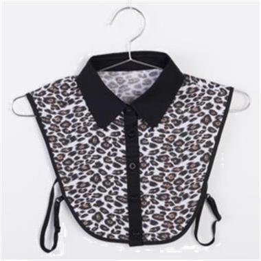 Grote foto grijs los kraagje paardeprintje gratis verzending kleding dames blouses