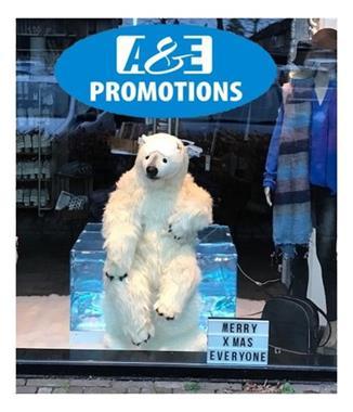 Grote foto grote ijsbeer ijsschotsen 3d verhuur amsterdam diversen versiering