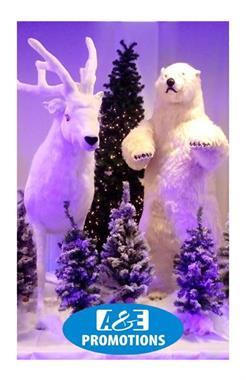 Grote foto winterwonderland verhuur ijsbeer bewegend gent diensten en vakmensen themafeestjes