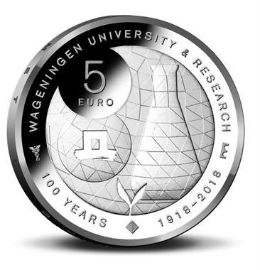 Grote foto nederland 5 euro 2018 coincard wageningen bu verzamelen munten nederland
