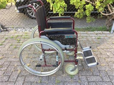 Grote foto rolstoel morrien volrubber antilekbanden beauty en gezondheid rollators