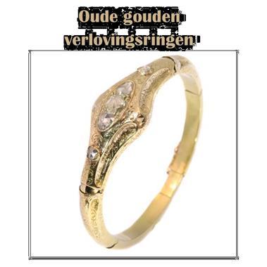 Grote foto sublieme oude gouden verlovingsring. sieraden tassen en uiterlijk ringen voor haar