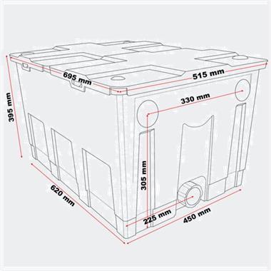 Grote foto bio doorstroomfilter bdfc60000 vijverfilter compact 50167 tuin en terras vijvers en toebehoren