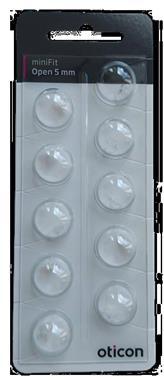 Grote foto oticon dome set 5mm open minifit 10 stuks diversen verpleegmiddelen en hulpmiddelen
