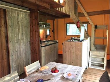 Grote foto luxe safaritenten met badkamer op kleine campings vakantie campings