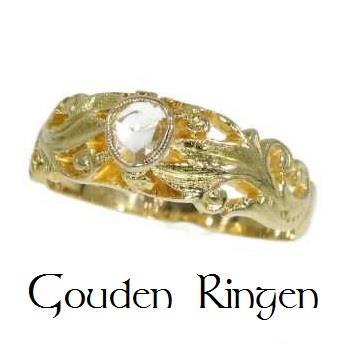 Grote foto sublieme antieke gouden ring. sieraden tassen en uiterlijk ringen voor haar