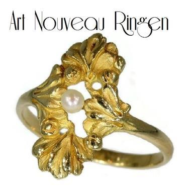 Grote foto ring uit de art nouveau periode. sieraden tassen en uiterlijk ringen voor haar