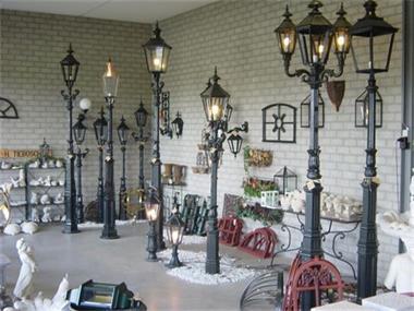 Grote foto gietijzeren lantaarns lantaarn gietijzer tuin en terras verlichting