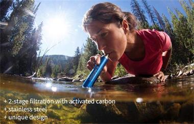 Grote foto lifestraw steel waterfilter met actieve kool caravans en kamperen overige caravans en kamperen