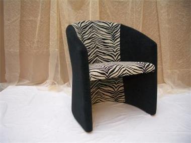 Grote foto russische zebra fauteuil huis en inrichting fauteuils