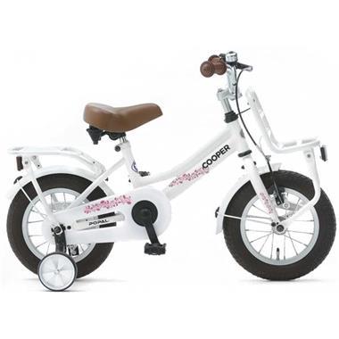 Grote foto popal cooper meisjesfiets 12 inch wit fietsen en brommers kinderfietsen