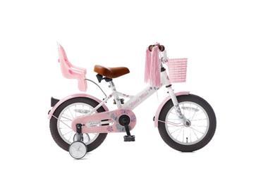 Grote foto popal little miss 14 inch meisjesfiets wit poppenzitje fietsen en brommers kinderfietsen