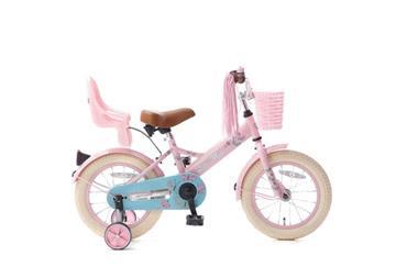 Grote foto popal little miss 14 inch meisjesfiets roze poppenzitje fietsen en brommers kinderfietsen