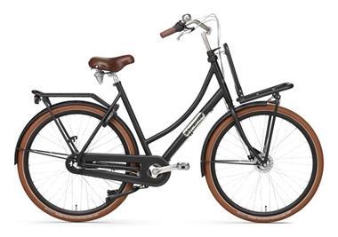 Grote foto daily dutch prestige n3 rb transportfiets 28 inch mat zwart fietsen en brommers damesfietsen